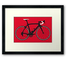 Bike Pop Art (Black & White) Framed Print