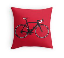 Bike Pop Art (Black & White) Throw Pillow
