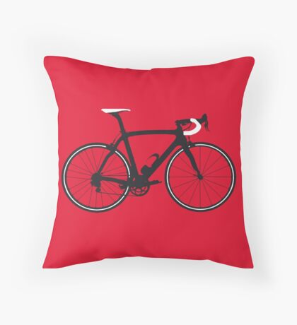 Bike Pop Art (Black & White) Throw Pillow