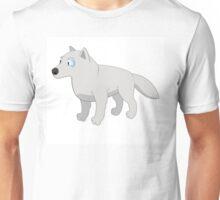 Attentive cartoon polar wolf Unisex T-Shirt