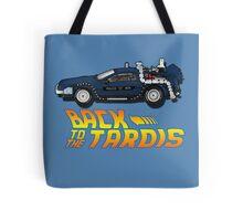 Nerd things - tardis delorean mash up Tote Bag