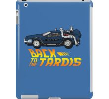 Nerd things - tardis delorean mash up iPad Case/Skin