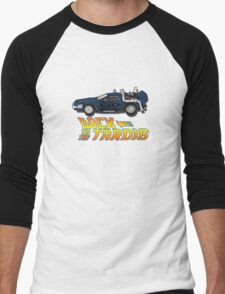 Nerd things - tardis delorean mash up Men's Baseball ¾ T-Shirt
