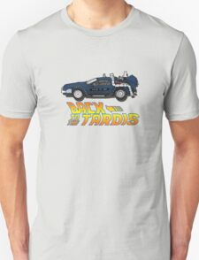 Nerd things - tardis delorean mash up T-Shirt