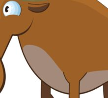 Cute cartoon moose Sticker