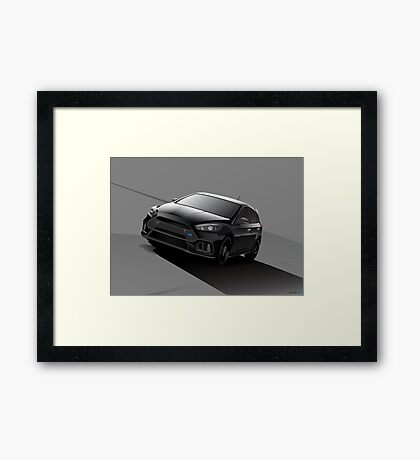 Black Focus RS Framed Print