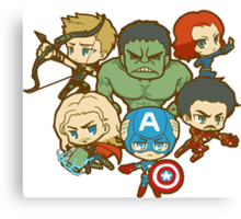 Funny AVENGERS Canvas Print