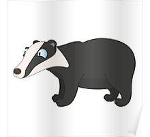 Friendly cartoon badger Poster