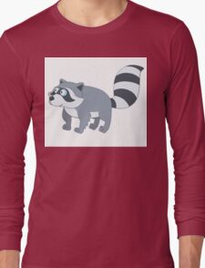 Adorable cartoon raccoon Long Sleeve T-Shirt