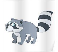 Adorable cartoon raccoon Poster