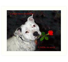 For the Love of Staffies Art Print