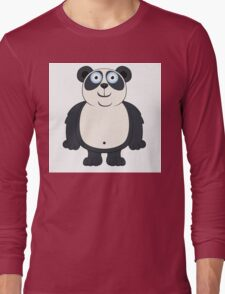Happy cartoon panda Long Sleeve T-Shirt
