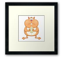Funny cartoon hamster Framed Print