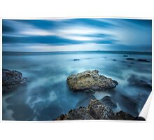 Atlantic ocean rocks Poster
