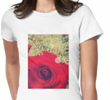 Vintage Rose 2 Womens Fitted T-Shirt