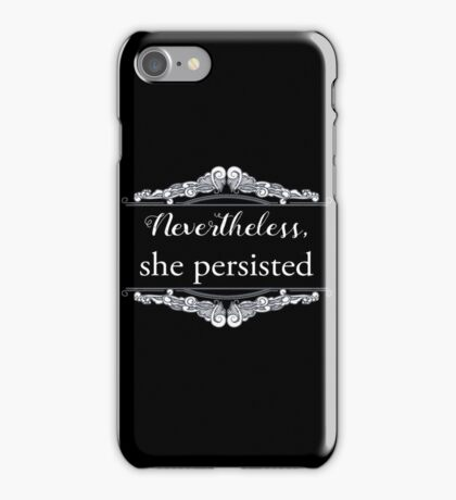 She Persisted (ACLU benefit) iPhone Case/Skin