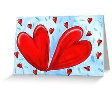 Two hearts. Greeting Card