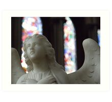 Angel and Stained Glass Window Art Print