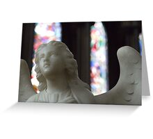 Angel and Stained Glass Window Greeting Card
