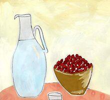 Jug and fruit. by John Douglas