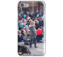 Entertaining the crowd Clunes Book Festival Victoria iPhone Case/Skin