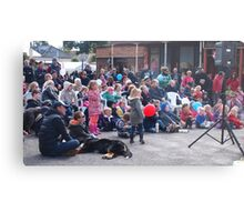 Entertaining the crowd Clunes Book Festival Victoria Metal Print