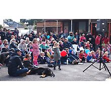 Entertaining the crowd Clunes Book Festival Victoria Photographic Print