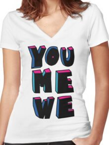 YOU+ME+WE Women's Fitted V-Neck T-Shirt
