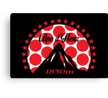 Alpe d'Huez (Red Polka Dot) Canvas Print