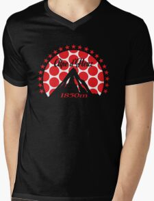 Alpe d'Huez (Red Polka Dot) Mens V-Neck T-Shirt