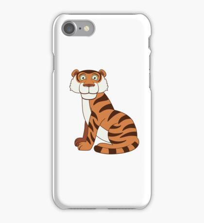 Cute funny cartoon tiger iPhone Case/Skin