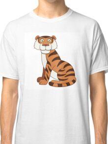 Cute funny cartoon tiger Classic T-Shirt
