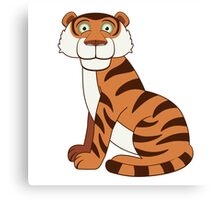 Cute funny cartoon tiger Canvas Print