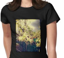 White Plum Blossoms 3 Womens Fitted T-Shirt