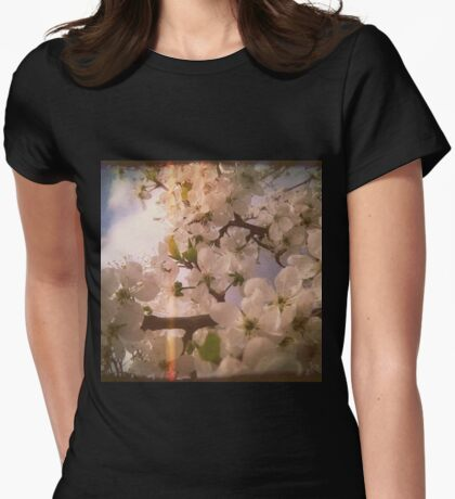 White Plum Blossoms 4 Womens Fitted T-Shirt