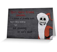 The Nightmare Before Christmas inspired Christmas Card. Greeting Card