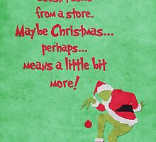 The Grinch inspired Christmas card. by topshelf