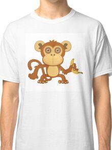 Funny cartoon monkey Classic T-Shirt