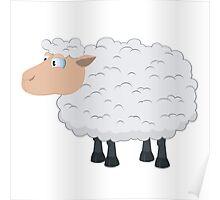 Fluffy cartoon sheep Poster