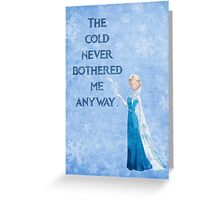 Frozen inspired Christmas card (Elsa). Greeting Card