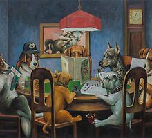 Dogs Playing D&D by Johannes Grenzfurthner