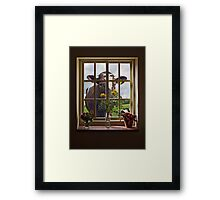 A Room with a Moo Framed Print