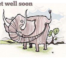 Elephant get well card by dotmund