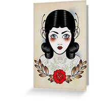 Flapper girl with tats Greeting Card