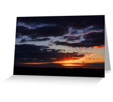 Crepuscular Rays At Sunrise  Greeting Card