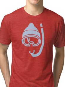 Snorkel deep powder snow Tri-blend T-Shirt