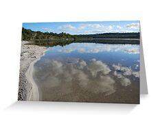 Brown Lake  Greeting Card