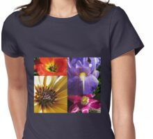 Up Close and Personal - Flowering Bulbs Collage Womens Fitted T-Shirt