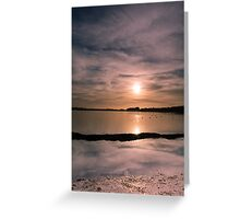 Pitsford Reservoir Sunset Greeting Card