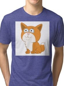 Adorable cartoon cat Tri-blend T-Shirt